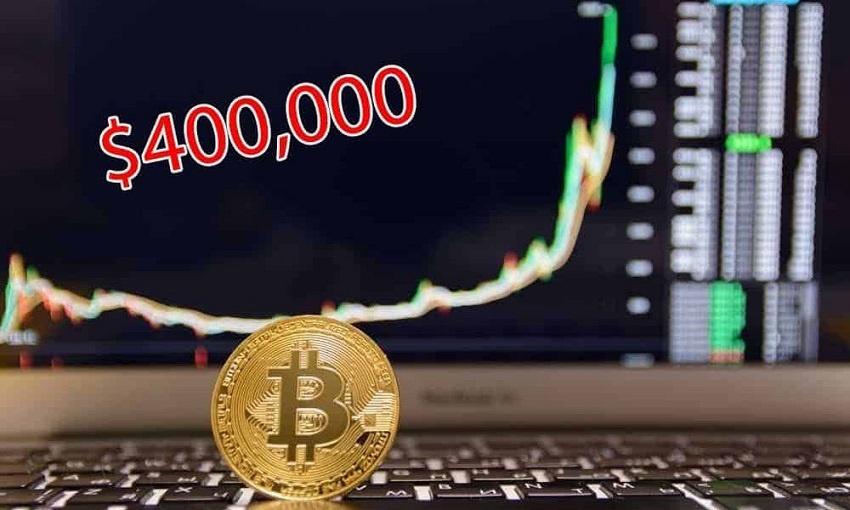 Selon un rapport Bloomberg, le cours Bitcoin BTC pourrait atteindre 400 000 dollars en 2021