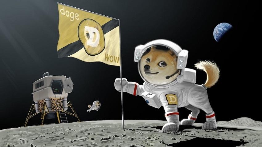 Dogecoin sur la lune, Elon Musk et sa société SpaceX vont envoyer dans l