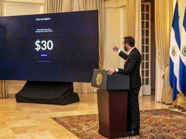 Le président Nayib Bukele annonce que le Salvador va verser 30 dollars en Bitcoin à chaque citoyen