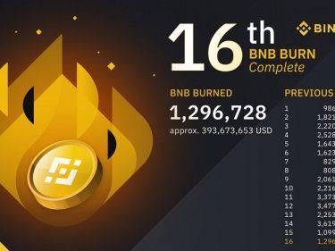 Binance a brûlé 1 296 728 BNB, soit près de 400 millions de dollars