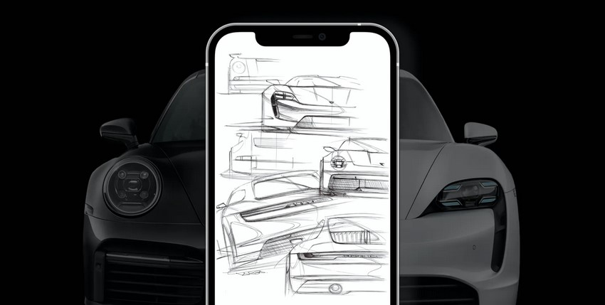 Porsche vend aux enchères un croquis de design exclusif en tant que NFT
