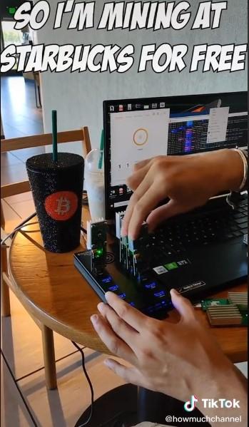 minage bitcoin gratuit électricité starbucks