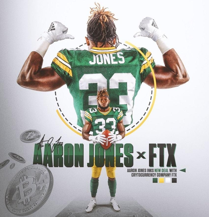 L'échange crypto FTX signe un partenariat avec le joueur star de la NFL Aaron Jones